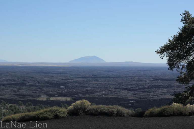 View of Big Cinder Butte from atop Inferno Cone.
